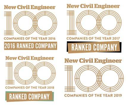 New Civil Engineer Companies of the Year logo